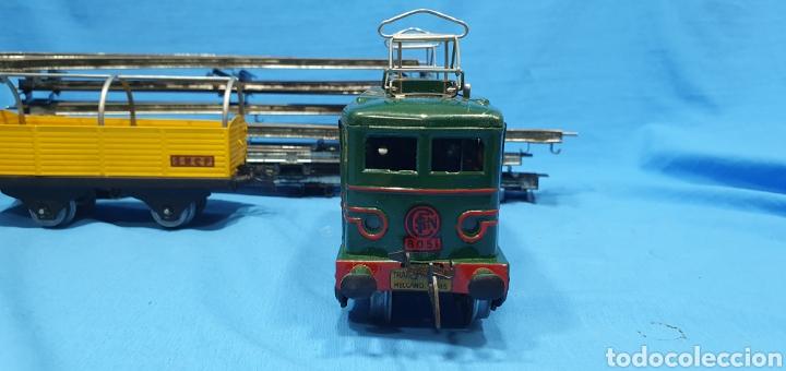 Trenes Escala: LOCOMOTORA 8051 , VAGON , TRANSFORMADOR Y VIAS DE HORNBY MECCANO PARÍS - Foto 6 - 214703606