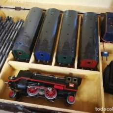 Trenes Escala: LOCOMOTORA Y VAGONES ELECTROTREN. ESTUCHE COMPLETO.. Lote 218263952