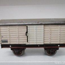 Trenes Escala: VAGON PAYA FRIGORIFICO / MERCANCIA / HOJALATA / ORIGINAL DE EPOCA / ESCALA 0 / AÑOS 40. Lote 218513477