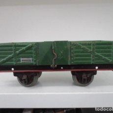 Trenes Escala: VAGON PAYA MERCANCIA / CARBONERA / HOJALATA / ORIGINAL DE EPOCA / ESCALA 0 / AÑOS 40. Lote 218513981