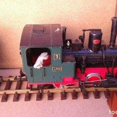 Trains Échelle: LGB LOCOMOTORA CON 2 VAGONES Y VIAS Y TRANSFORMADOR, ENVIO 12,00 EUROS. Lote 219077936