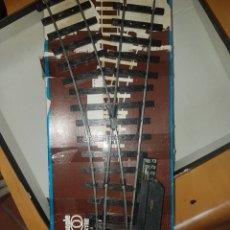 Trenes Escala: AGUJA ELECTRICA A IZQUIERDA LIMA ESCALA 0. Lote 219606930