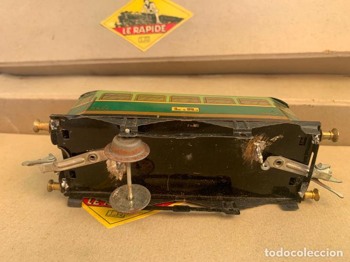 Trenes Escala: L.R. LE RAPIDE LOTE 3 VAGONES TREN ESCALA 0 AÑOS 30 - Foto 4 - 222909370