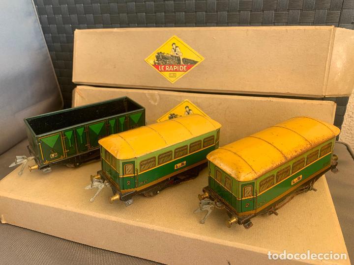 Trenes Escala: L.R. LE RAPIDE LOTE 3 VAGONES TREN ESCALA 0 AÑOS 30 - Foto 6 - 222909370
