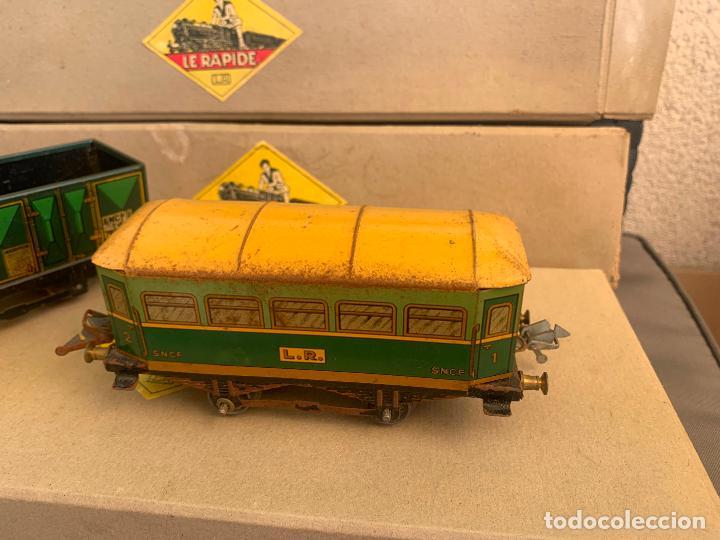 Trenes Escala: L.R. LE RAPIDE LOTE 3 VAGONES TREN ESCALA 0 AÑOS 30 - Foto 8 - 222909370