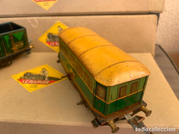 Trenes Escala: L.R. LE RAPIDE LOTE 3 VAGONES TREN ESCALA 0 AÑOS 30 - Foto 9 - 222909370