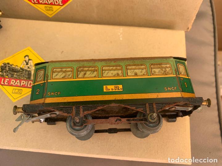 Trenes Escala: L.R. LE RAPIDE LOTE 3 VAGONES TREN ESCALA 0 AÑOS 30 - Foto 10 - 222909370