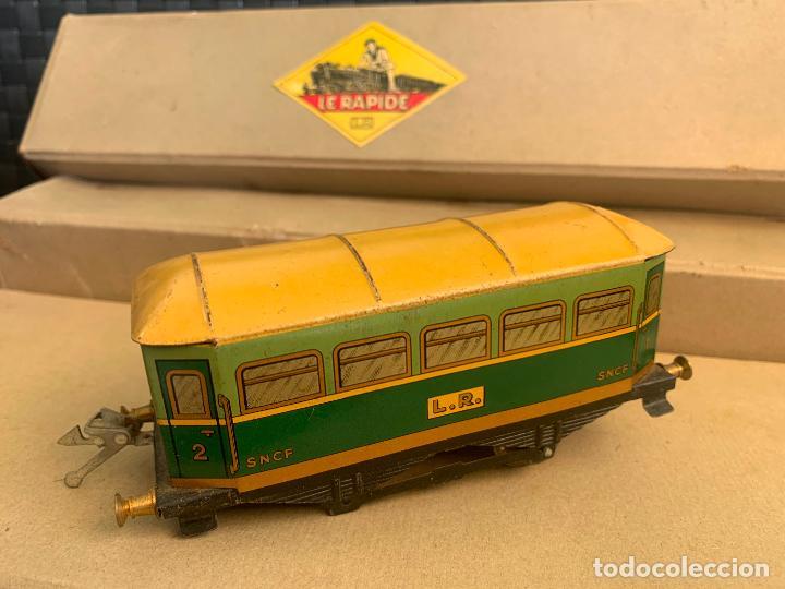 Trenes Escala: L.R. LE RAPIDE LOTE 3 VAGONES TREN ESCALA 0 AÑOS 30 - Foto 13 - 222909370