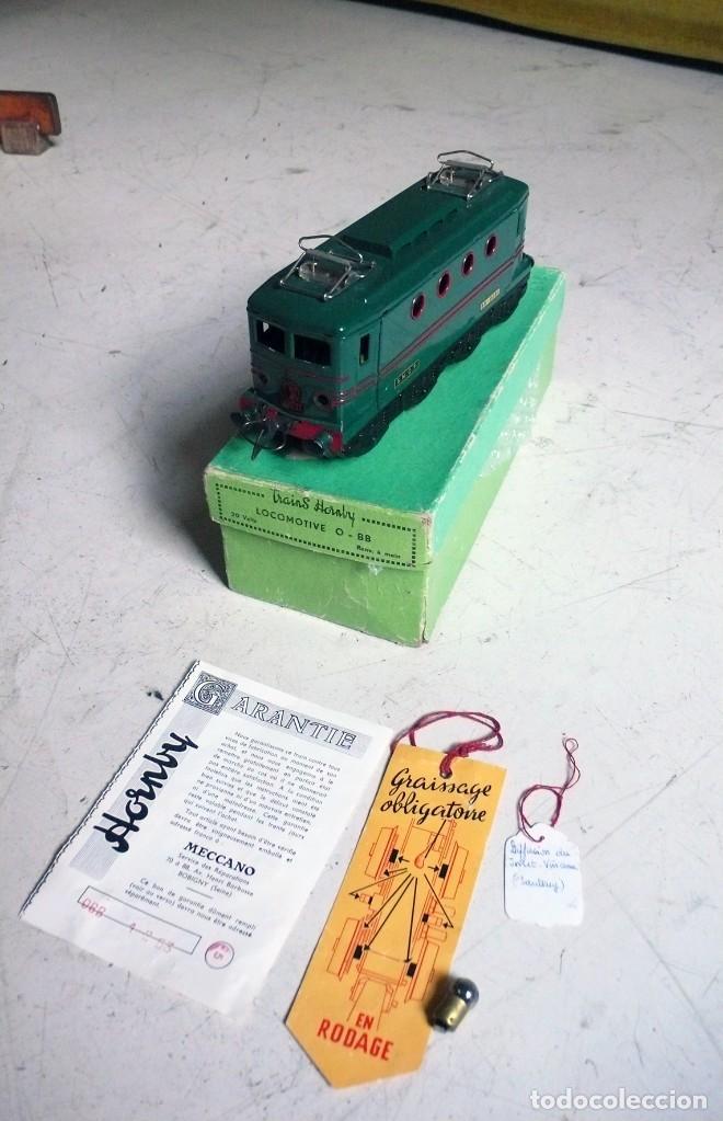 LOCOMOTORA HORNBY BB 8051 EN ESCALA 0. CON CAJA ORIGINAL. AÑOS 50-60 (Juguetes - Trenes Escala 0)