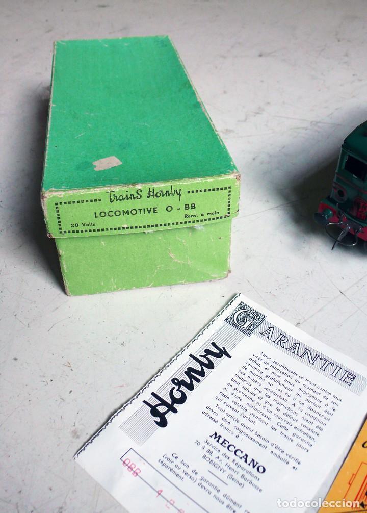 Trenes Escala: Locomotora Hornby BB 8051 en escala 0. Con caja original. Años 50-60 - Foto 4 - 224752358