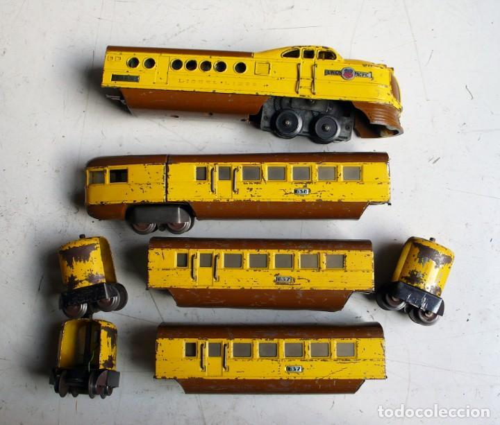 Trenes Escala: Tren Lionel 636 Union Pacific. Compatible con Paya. Años 30. Escala 0 - Foto 4 - 224753371