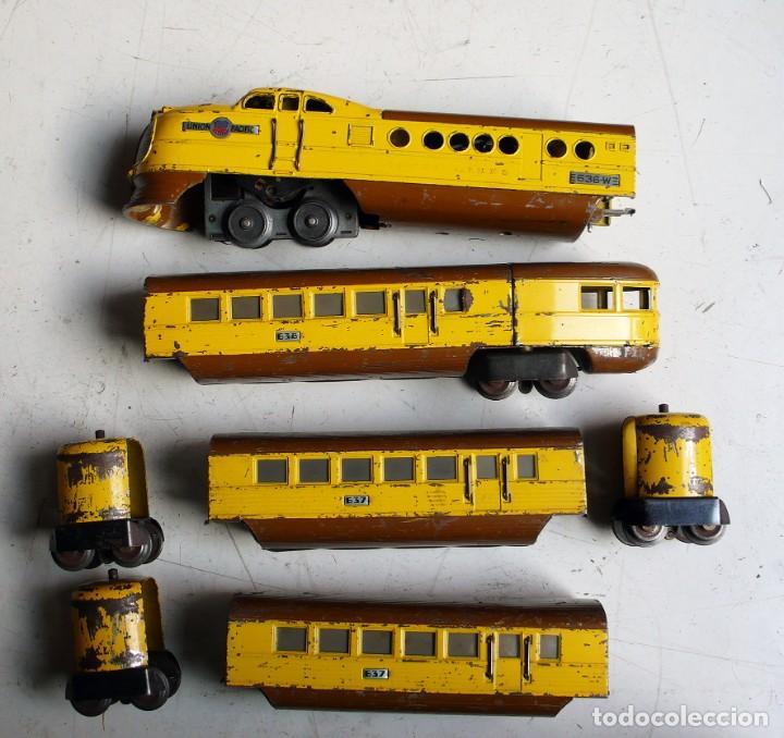 Trenes Escala: Tren Lionel 636 Union Pacific. Compatible con Paya. Años 30. Escala 0 - Foto 5 - 224753371
