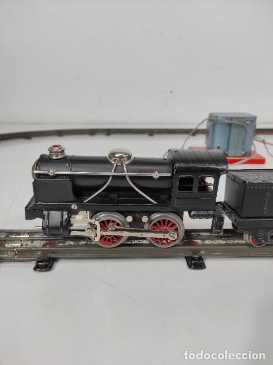 Trenes Escala: Tren Paya - Locomotora, Tender, Vagones, Vías y Trasformador - con Caja - Escala 0 - Foto 7 - 233090965