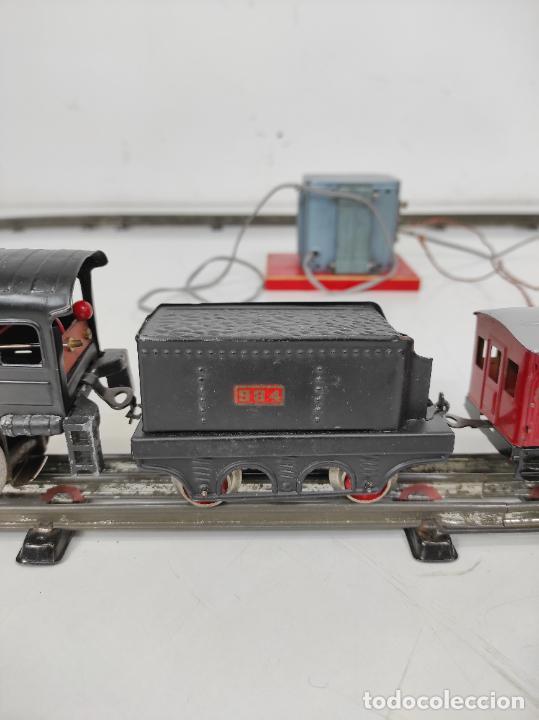 Trenes Escala: Tren Paya - Locomotora, Tender, Vagones, Vías y Trasformador - con Caja - Escala 0 - Foto 8 - 233090965