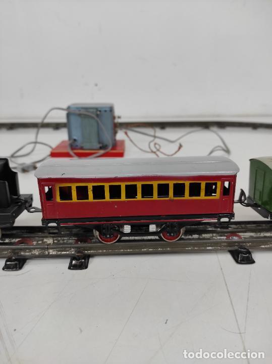 Trenes Escala: Tren Paya - Locomotora, Tender, Vagones, Vías y Trasformador - con Caja - Escala 0 - Foto 9 - 233090965