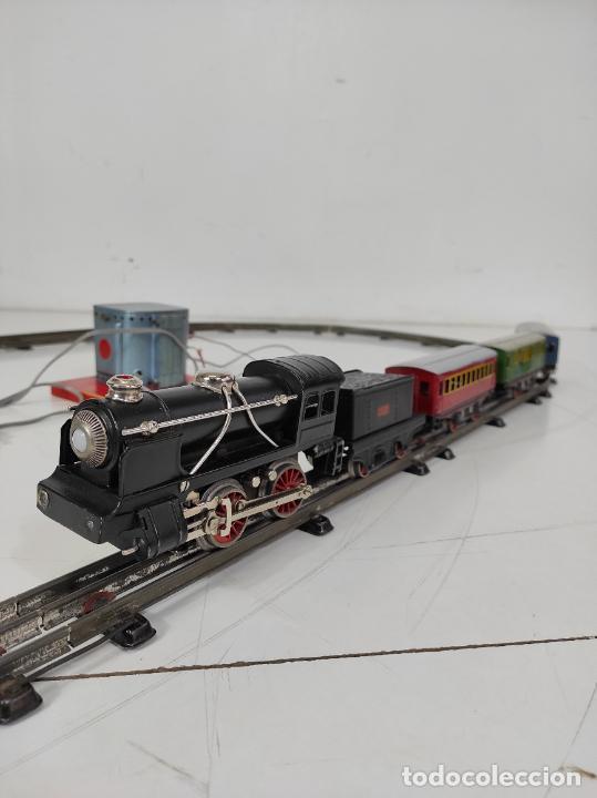 Trenes Escala: Tren Paya - Locomotora, Tender, Vagones, Vías y Trasformador - con Caja - Escala 0 - Foto 13 - 233090965