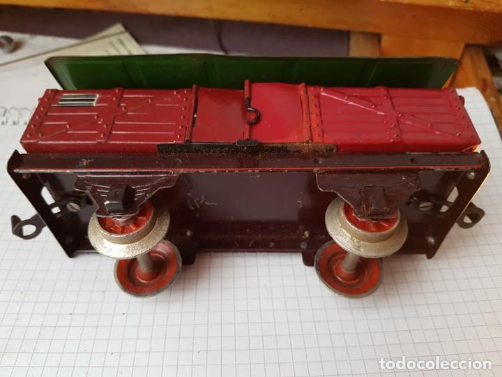 VAGÓN DE PAYA CARBONERO ESCALA 0 (Juguetes - Trenes Escala 0)
