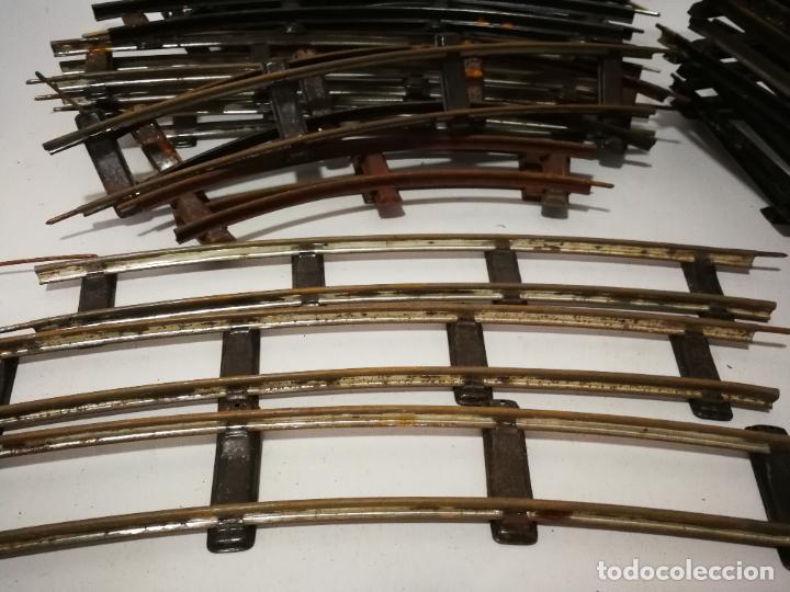 Trenes Escala: GRAN LOTE VÍAS ANTIGUAS ESCALA 0 PAYÁ RICO OXIDADAS - Foto 6 - 237001220