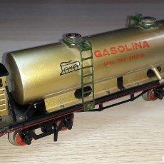 Trains Échelle: VAGÓN CISTERNA GASOLINA # 1356, FABRICADO EN METAL, PAYA ESC. 0, ORIGINAL AÑOS 50.. Lote 237589830