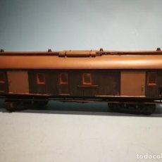 Comboios Escala: FURGÓN MANAMO BOGIES 36 CM VERDE.. Lote 239847570