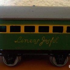 Trenes Escala: VAGÓN DE PASAJEROS LÍNEAS JOSFEL - COLOR VERDE - MUY BUEN ESTADO. Lote 242079790