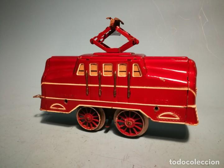 Trenes Escala: RARÍSIMA LOCOMOTORA RICO ELÉCTRICA ROJA - Foto 2 - 242851195