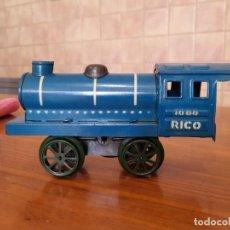 Trenes Escala: ANTIGUA LOCOMOTORA RICO, HOJALATA. Lote 243406505