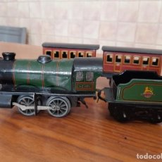 Trenes Escala: ANTIGUA LOCOMOTORA, TENDER Y VAGONES HORNBY MADE IN ENGLAND BY MECCANO, TYPE 20. Lote 243407065