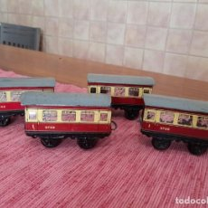 Trenes Escala: LOTE 4 VAGONES ANTIGUOS DE TREN HORNBY 9798, ENGLAND. Lote 243410900