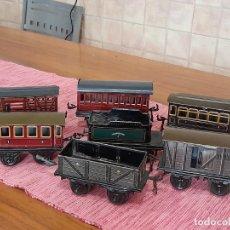 Trenes Escala: LOTE DE 6 VAGONES Y 1 TENDER ANTIGUOS GBN, BAVARIA. Lote 243414420
