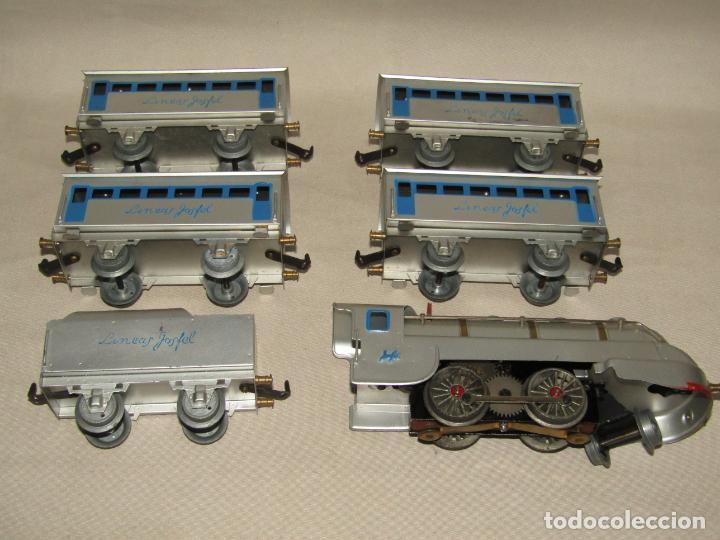 Trenes Escala: Antiguo Tren Completo de Viajeros JOSFEL - Locomotora, Tender, 4 Coches de Viajeros en Caja Original - Foto 3 - 250222965