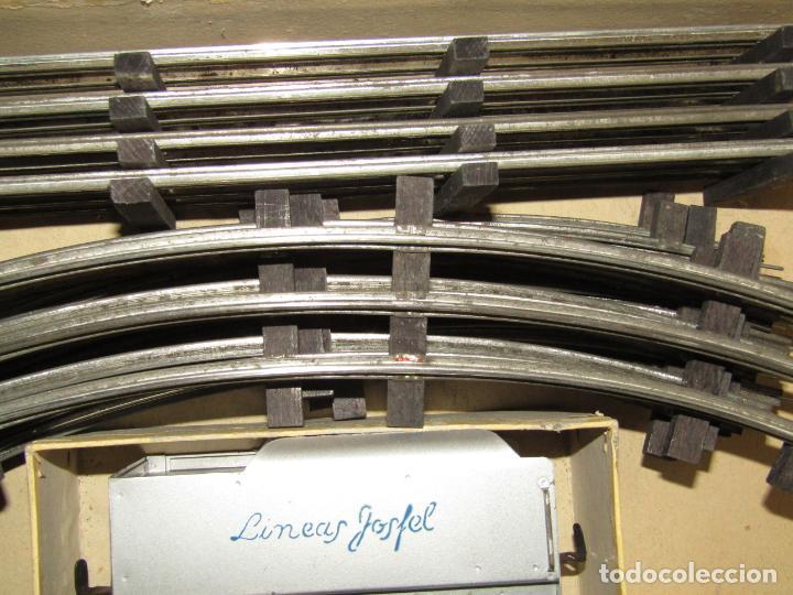 Trenes Escala: Antiguo Tren Completo de Viajeros JOSFEL - Locomotora, Tender, 4 Coches de Viajeros en Caja Original - Foto 4 - 250222965
