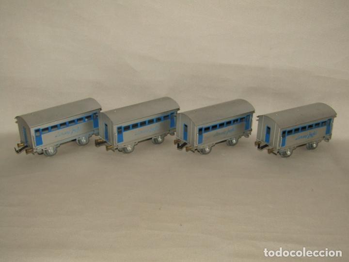 Trenes Escala: Antiguo Tren Completo de Viajeros JOSFEL - Locomotora, Tender, 4 Coches de Viajeros en Caja Original - Foto 7 - 250222965