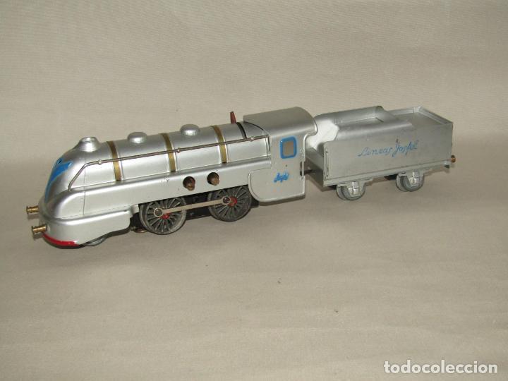 Trenes Escala: Antiguo Tren Completo de Viajeros JOSFEL - Locomotora, Tender, 4 Coches de Viajeros en Caja Original - Foto 9 - 250222965