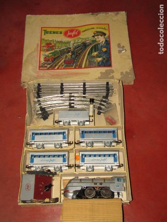 Trenes Escala: Antiguo Tren Completo de Viajeros JOSFEL - Locomotora, Tender, 4 Coches de Viajeros en Caja Original - Foto 10 - 250222965