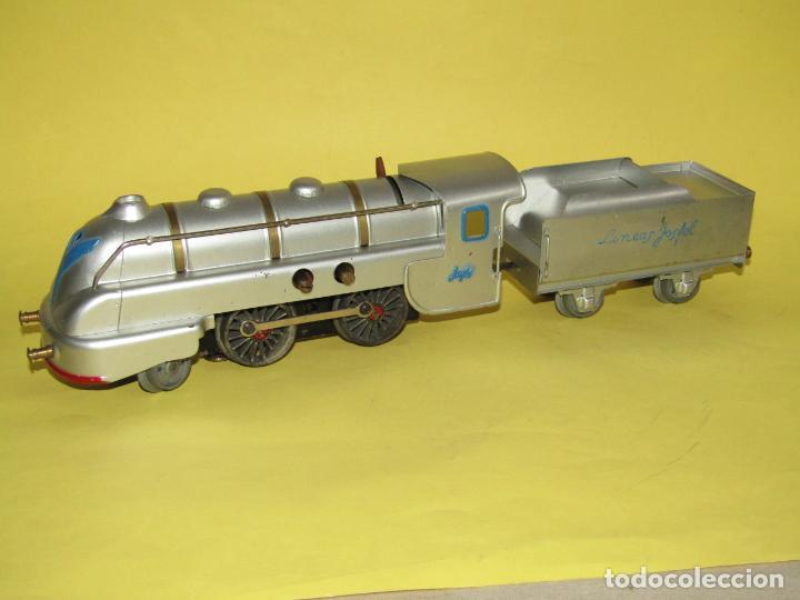 Trenes Escala: Antiguo Tren Completo de Viajeros JOSFEL - Locomotora, Tender, 4 Coches de Viajeros en Caja Original - Foto 11 - 250222965