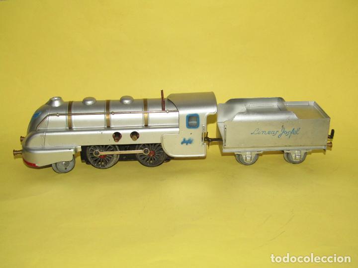 Trenes Escala: Antiguo Tren Completo de Viajeros JOSFEL - Locomotora, Tender, 4 Coches de Viajeros en Caja Original - Foto 12 - 250222965