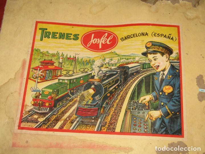 Trenes Escala: Antiguo Tren Completo de Viajeros JOSFEL - Locomotora, Tender, 4 Coches de Viajeros en Caja Original - Foto 14 - 250222965