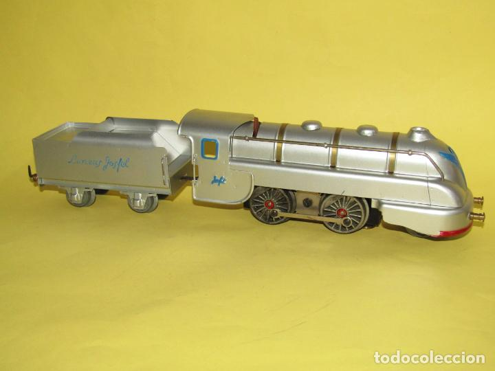 Trenes Escala: Antiguo Tren Completo de Viajeros JOSFEL - Locomotora, Tender, 4 Coches de Viajeros en Caja Original - Foto 18 - 250222965