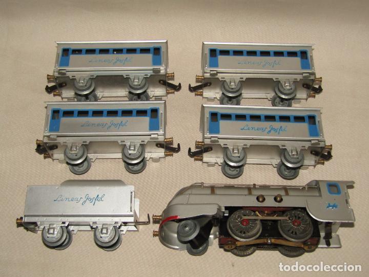 Trenes Escala: Antiguo Tren Completo de Viajeros JOSFEL - Locomotora, Tender, 4 Coches de Viajeros en Caja Original - Foto 20 - 250222965