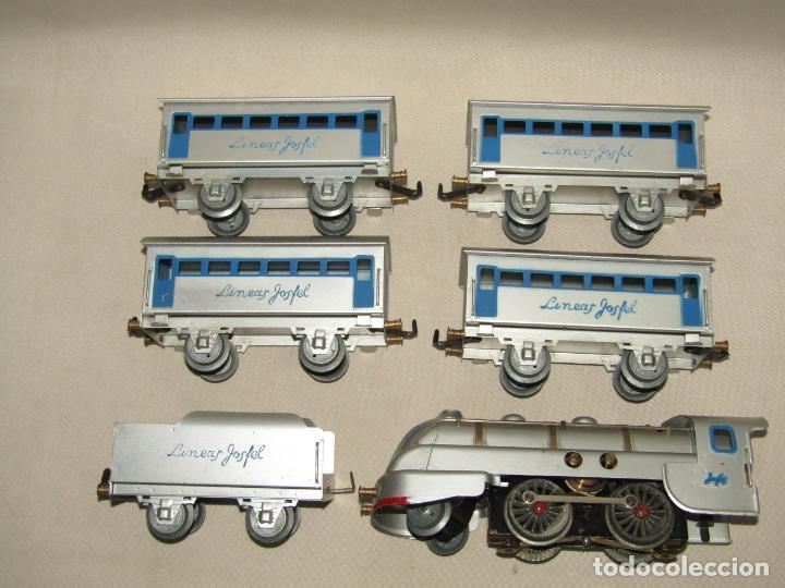 Trenes Escala: Antiguo Tren Completo de Viajeros JOSFEL - Locomotora, Tender, 4 Coches de Viajeros en Caja Original - Foto 22 - 250222965