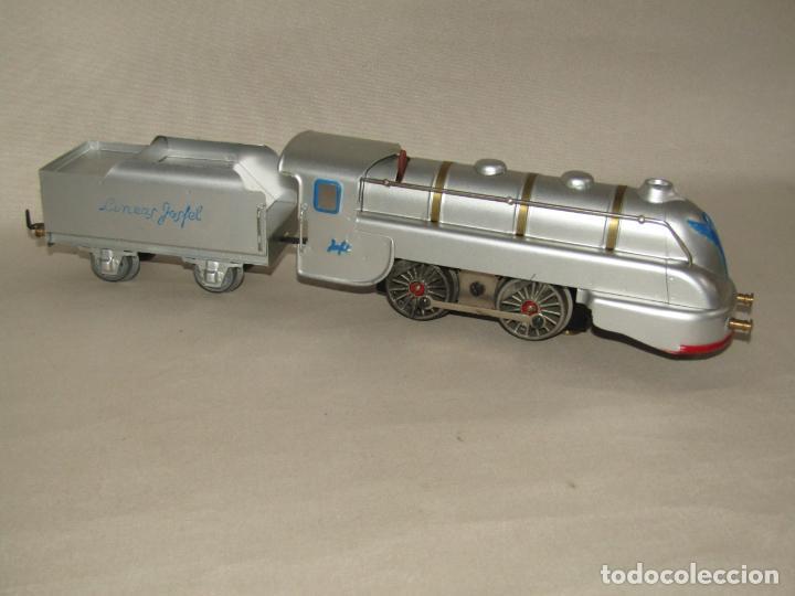 Trenes Escala: Antiguo Tren Completo de Viajeros JOSFEL - Locomotora, Tender, 4 Coches de Viajeros en Caja Original - Foto 25 - 250222965