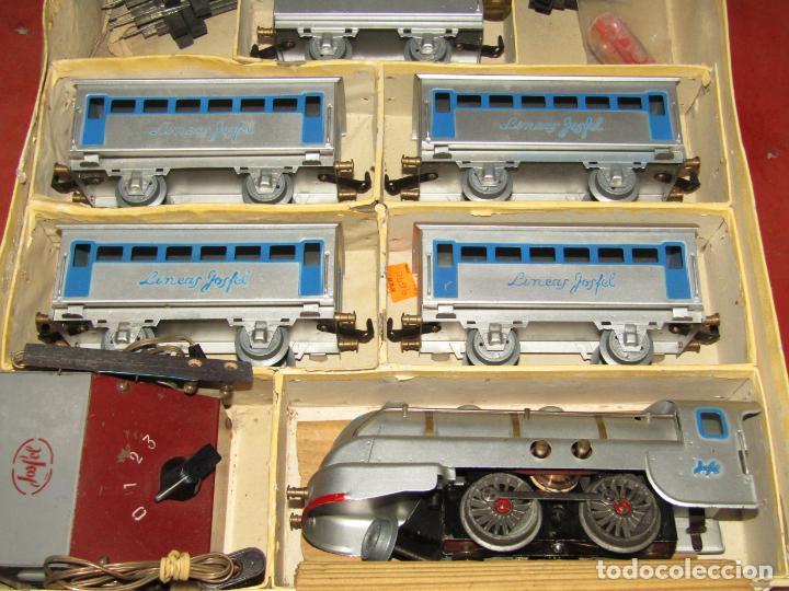 Trenes Escala: Antiguo Tren Completo de Viajeros JOSFEL - Locomotora, Tender, 4 Coches de Viajeros en Caja Original - Foto 26 - 250222965