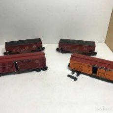 Trenes Escala: LOTE 4 VAGONES AMERICAN FLIYER. Lote 251455830