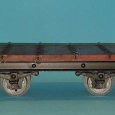 Trenes Escala: VAG0N PLATAFORMA DE MANANO (TIPO JOSFEL, PAYA, RICO) AÑOS 40/50. Lote 251881455
