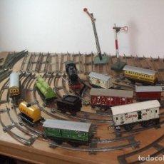 Trenes Escala: TREN A CUERDA HEINRICH WIMMER GERMANY 1948 HOJALATA MADE IN U.S. US ZONE. Lote 253999415