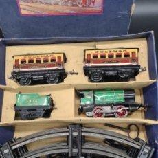 Trenes Escala: MAGNIFICO TREN ANTIGUO HORNBY M1 PASSENGER SET, O, COMPLETO, FUNCIONANDO, ORIGINAL.. Lote 262255995