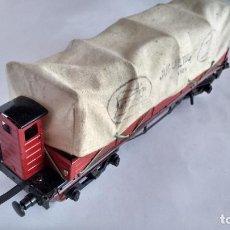 Trains Échelle: PAYA 0, VAGÓN CARGA CON TOLDO ,. Lote 264129830