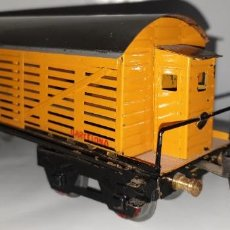 Trenes Escala: VAGON CUATRO EJES, TRANSPORTE GANADO DE ELECTROTREN , ESCALA 0. (TIPO PAYA, RICO, JOSFEL). Lote 268939104