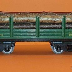 Trenes Escala: VAGON TRANSPORTE TRONCOS DE JOSFEL, ESCALA 0 (TIPO PAYA, RICO, ELECTROTREN). Lote 272238868